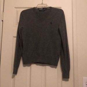 Light Grey Polo Sweater